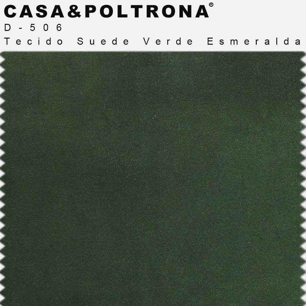 Poltrona Decorativa Para Sala de Estar Olivia Pés Palito Gold Suede Verde Esmeralda - casaepoltrona