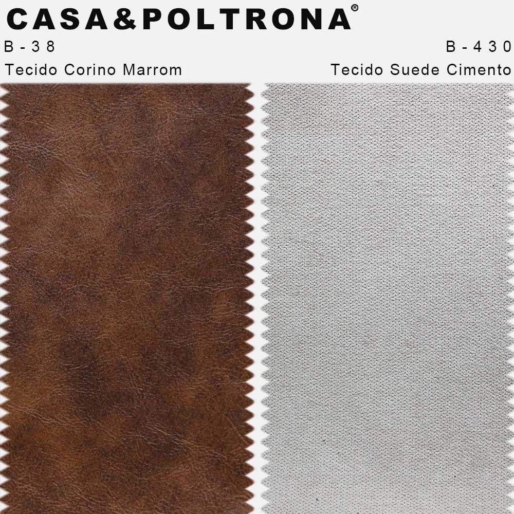 Poltrona Decorativa Isabella Base Madeira Veludo Cotelê Cinza Platina - CasaePoltrona