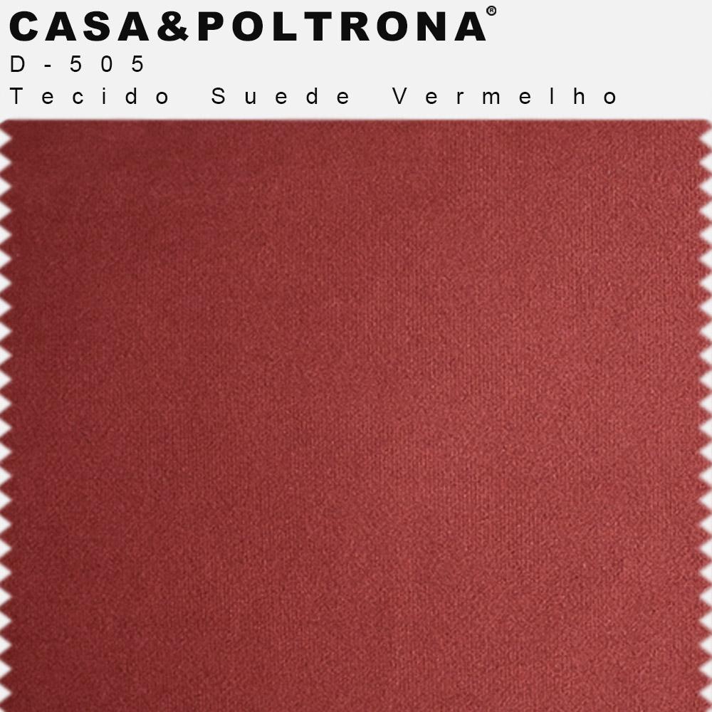 Poltrona Decorativa Para Sala Julia Base Madeira Suede Matelassê Vermelho - casaepoltrona