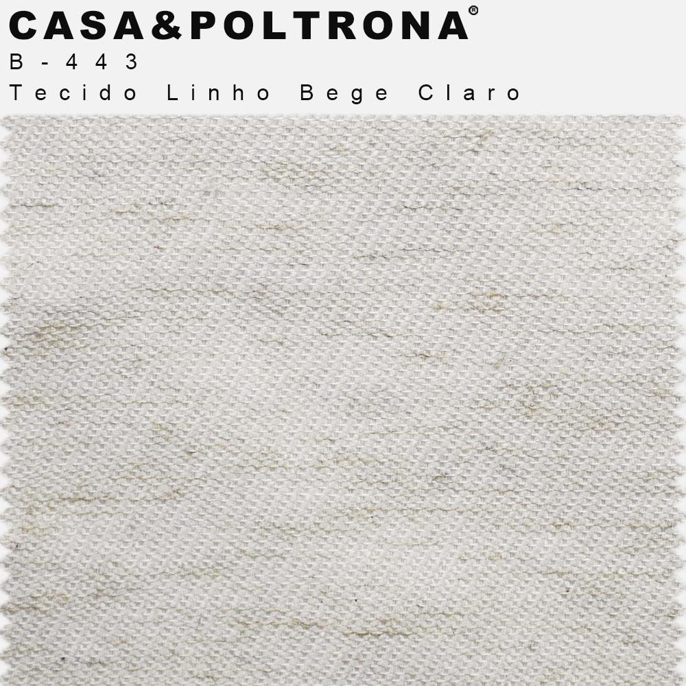 Poltrona Decorativa Valentina Base Giratória X Imbuia Linho Bege Claro - casaepoltrona