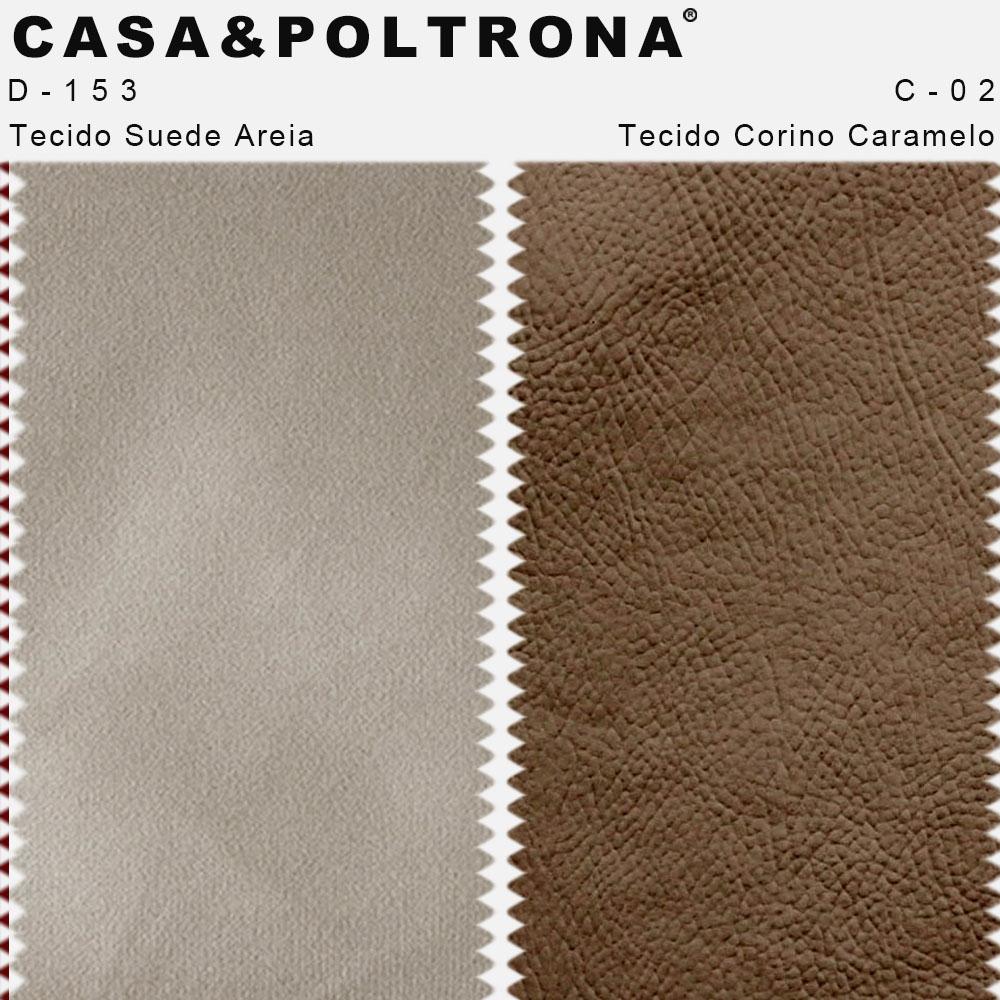 Poltrona Decorativa Valentina Pés Palito Duo Corano Caramelo/Suede Areia - casaepoltrona