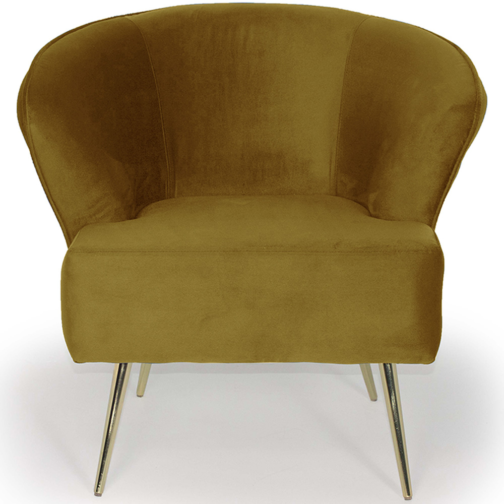 Poltrona Decorativa Iris Pés Palito Gold Veludo Amarelo - casaepoltrona