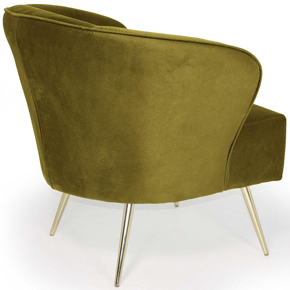 Poltrona Decorativa Iris Pés Palito Gold Veludo Mostarda - casaepoltrona