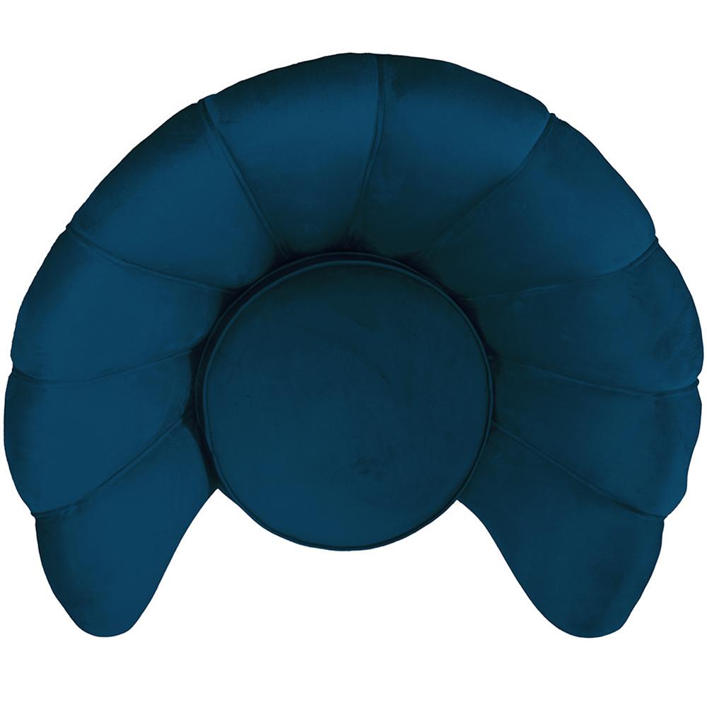Poltrona La Pétala para Sala de Estar Base X Veludo Azul - CasaePoltrona