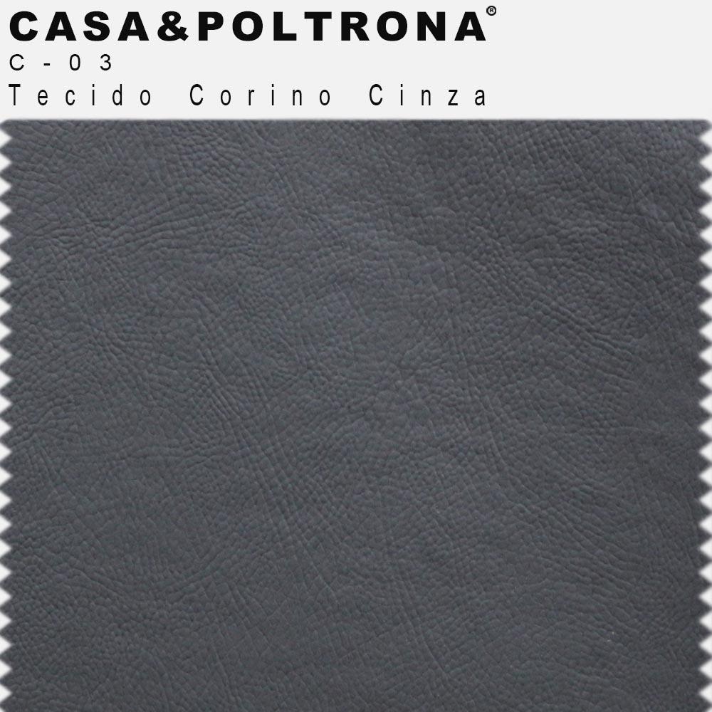 Poltrona Para Escritório Maia Base Alumínio Corano Cinza - CasaePoltrona
