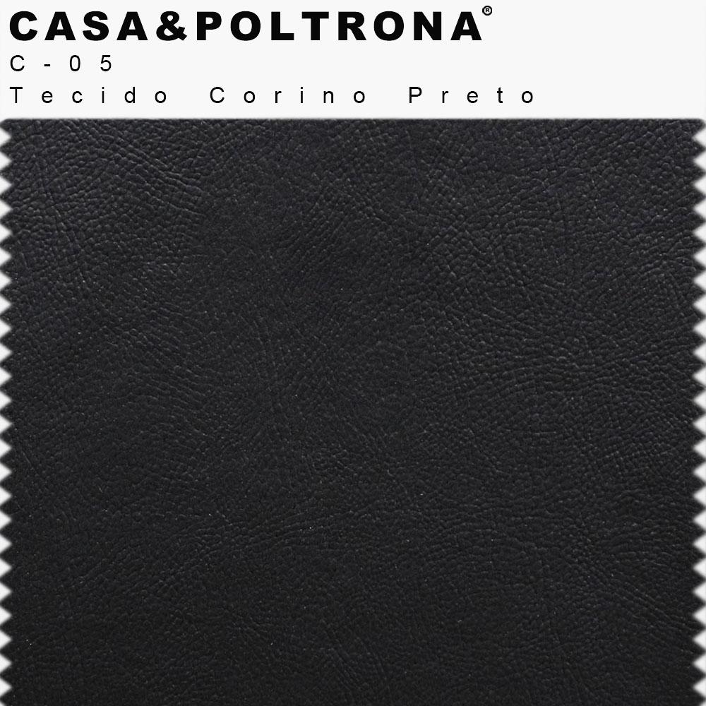 Poltrona Para Escritório Maia Base Alumínio Corano Preto - CasaePoltrona