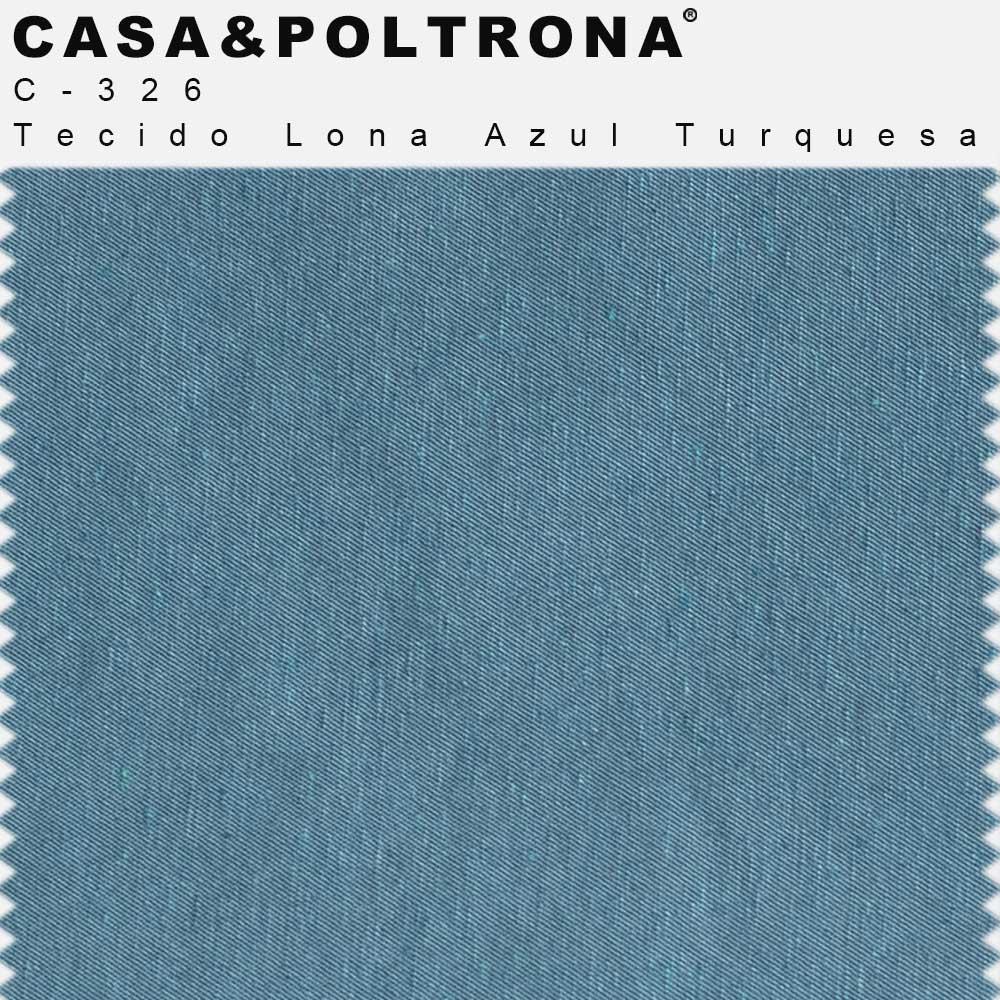 Poltrona Para Sala De Estar Diva Base Giratória Tecido Lona Matelassê Azul Turquesa - casaepoltrona