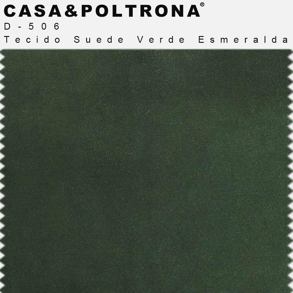 Poltrona Para Sala Decorativa Kora Pés Palito Gold Suede Verde Esmeralda - casaepoltrona