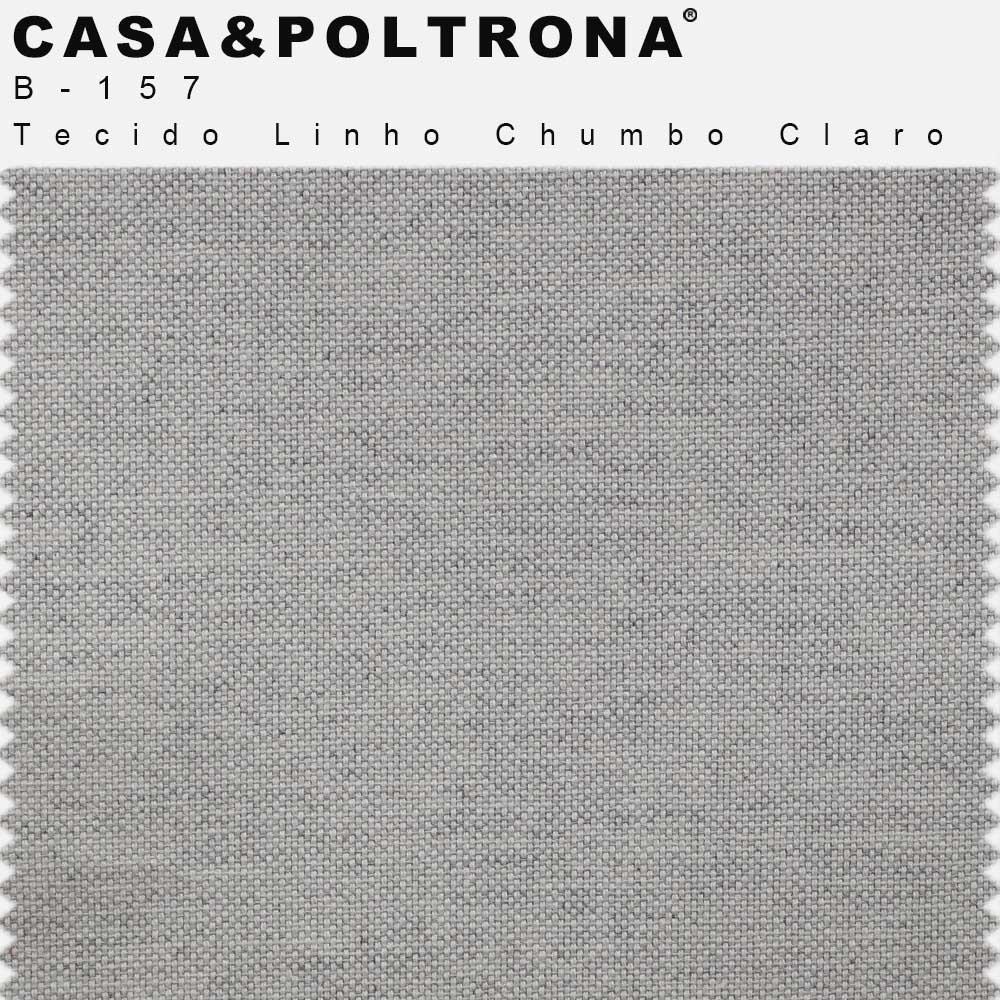 Poltrona Para Sala Decorativa Kora Pés Palito Linho Chumbo Claro - casaepoltrona