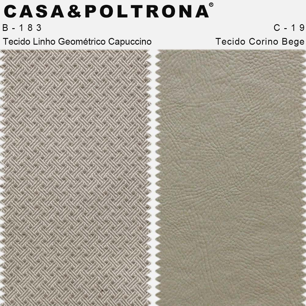Poltrona Para Sala Larissa Pés Palito Corano Bege/Linho Geométrico Capuccino - casaepoltrona