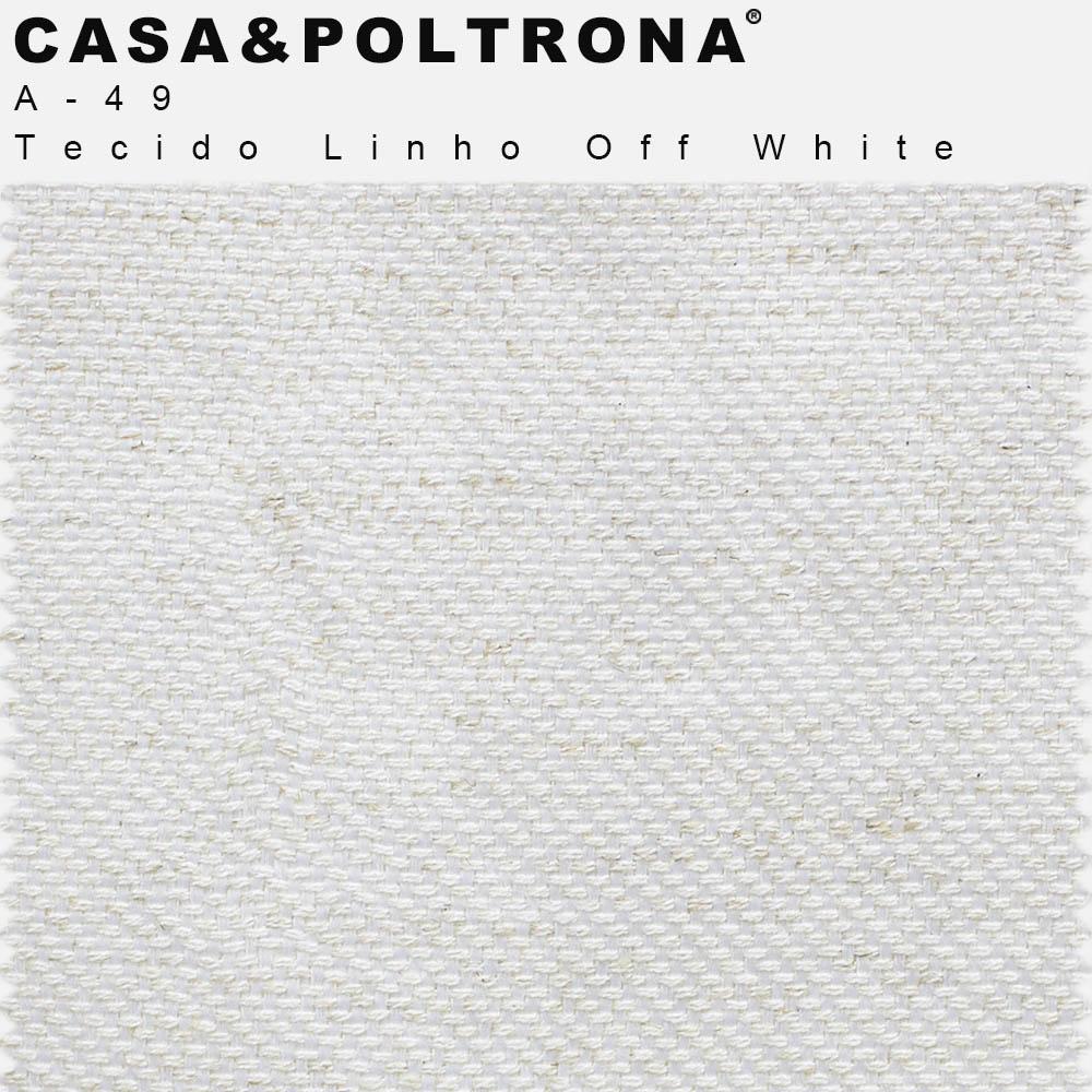 Poltrona Viena Decorativa Pés Palito Imbuia Duo Linho Off White - casaepoltrona