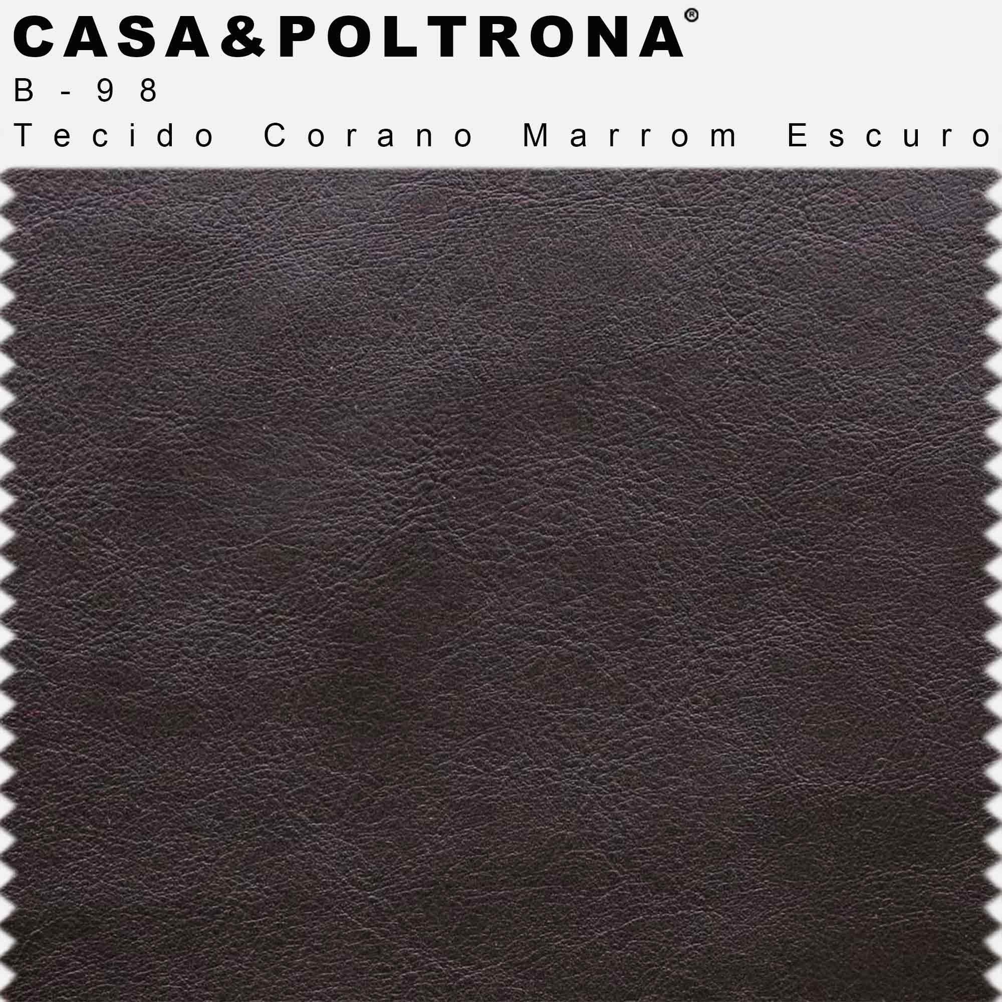 Puff Decorativo Status Base Preto Fosco Corano Marrom Escuro - CasaePoltrona