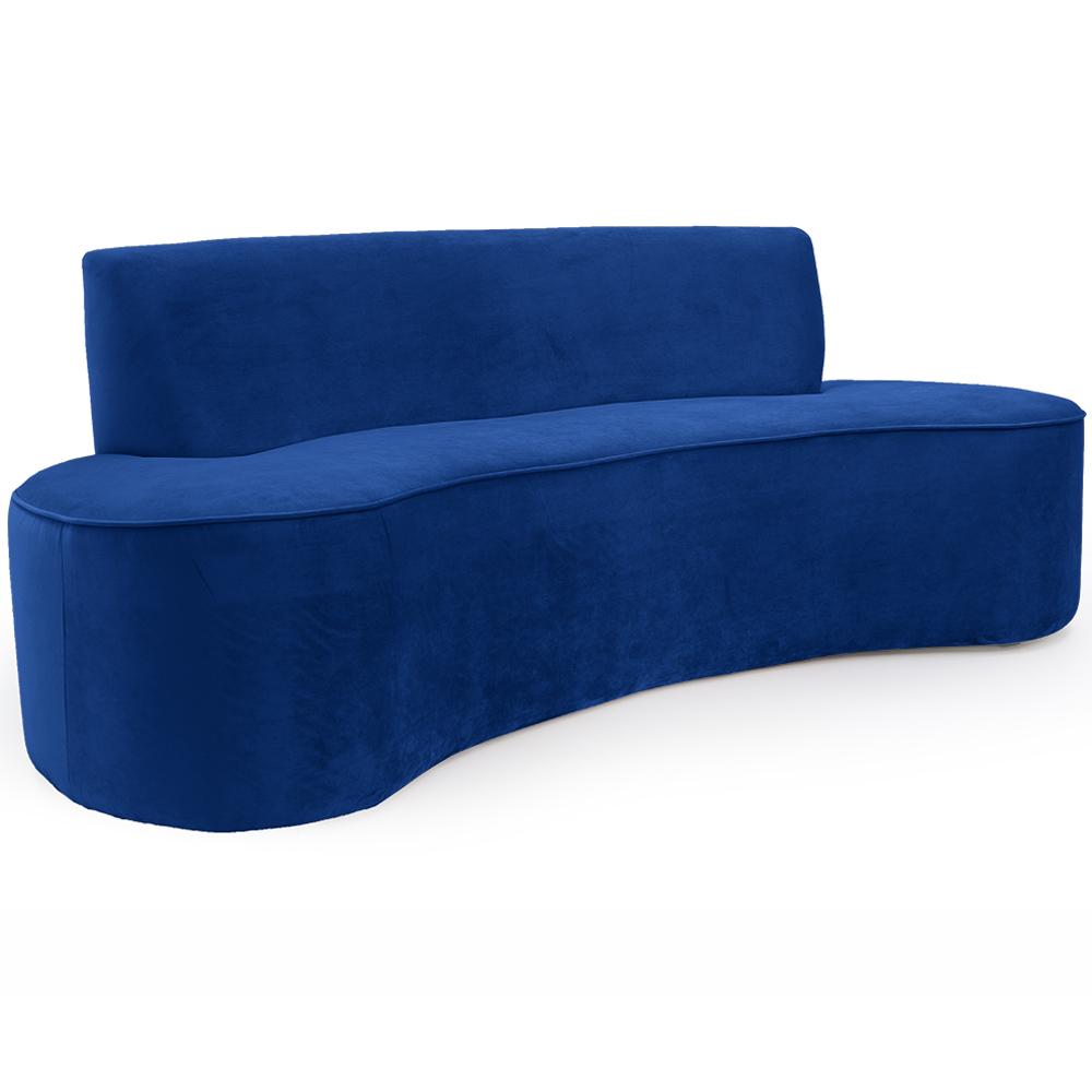 Sofá 03 Lugares 150 cm Mônaco Veludo Azul Royal - CasaePoltrona