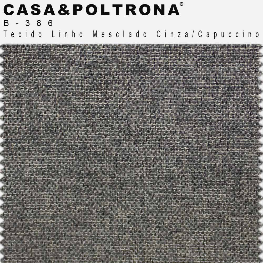 Sofá 03 Lugares 210 cm Molino Base de Madeira Linho Mesclado Cinza/Capuccino - casaepoltrona