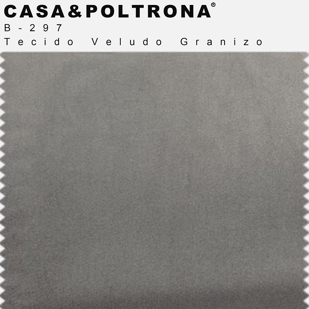 Sofá 03 Lugares 230 cm Molino Base de Madeira Pés Alumínio Veludo Granizo - casaepoltrona