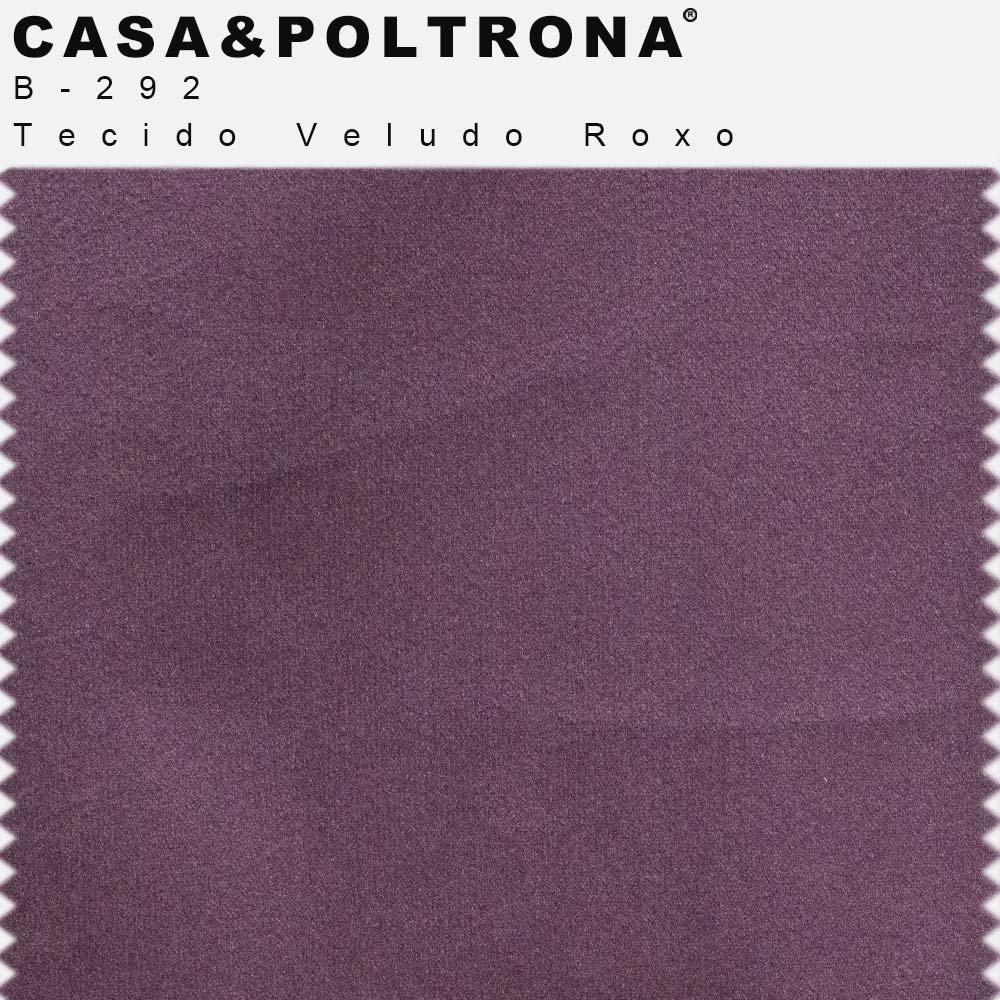 Sofá 03 Lugares 230 cm Molino Base de Madeira Pés Alumínio Veludo Roxo - casaepoltrona