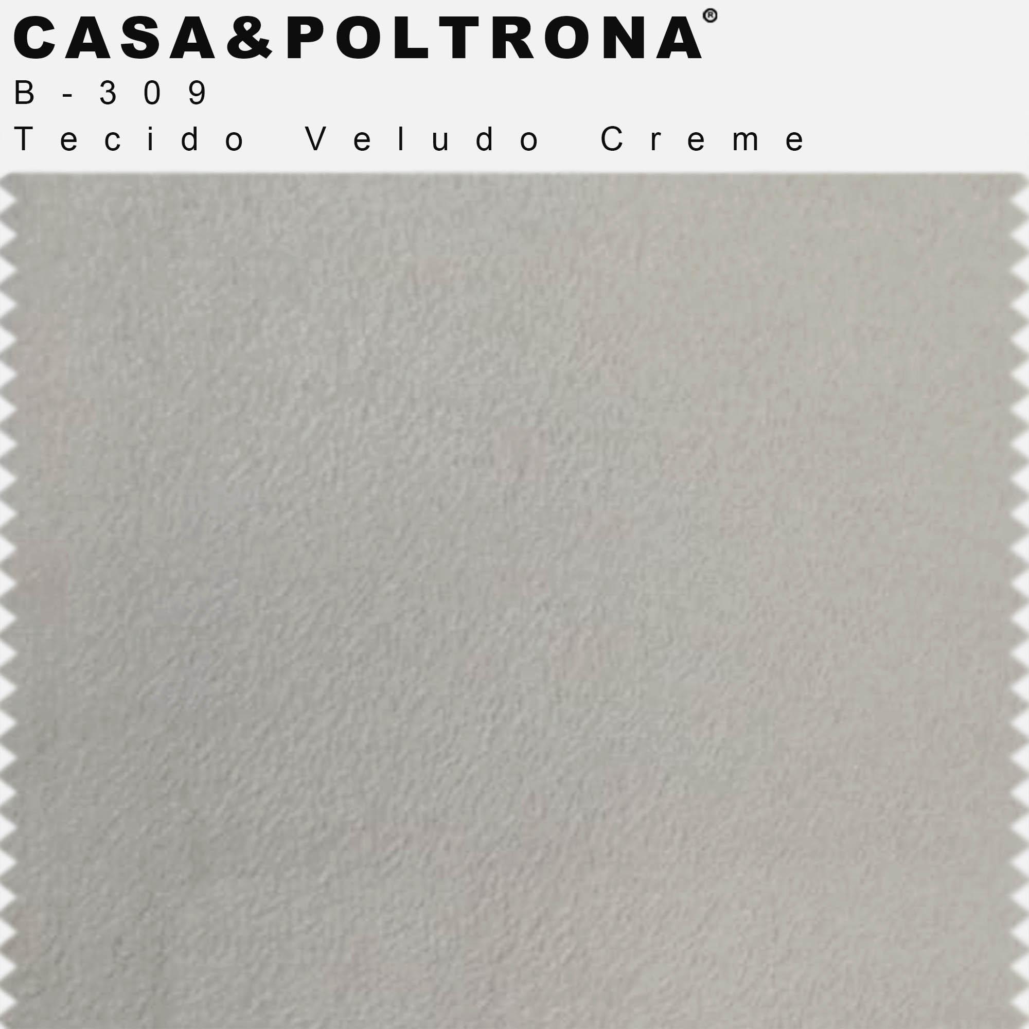 Sofá 05 Lugares 300 cm Chaise Direito Molino Base Madeira Pés Gold Veludo Creme - casaepoltrona
