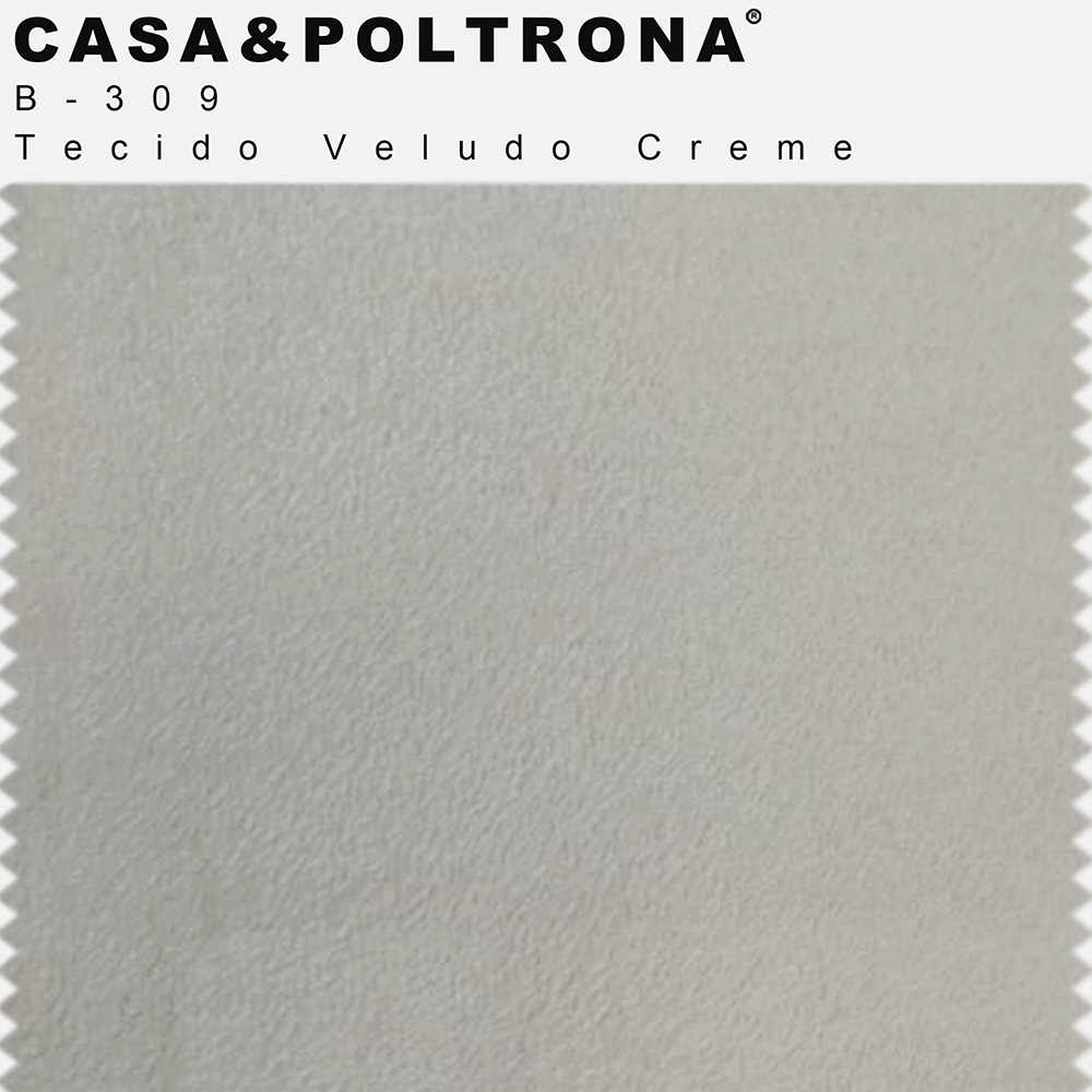 Sofá 05 Lugares 300 cm Chaise Esquerdo Molino Base Madeira Pés Gold Veludo Creme - casaepoltrona