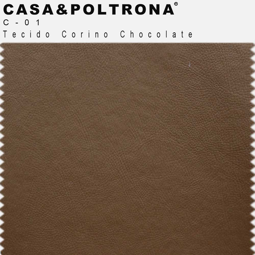Sofá de Sala Decorativa Kubo 02 Lugares 153 cm Corano Chocolate - casaepoltrona