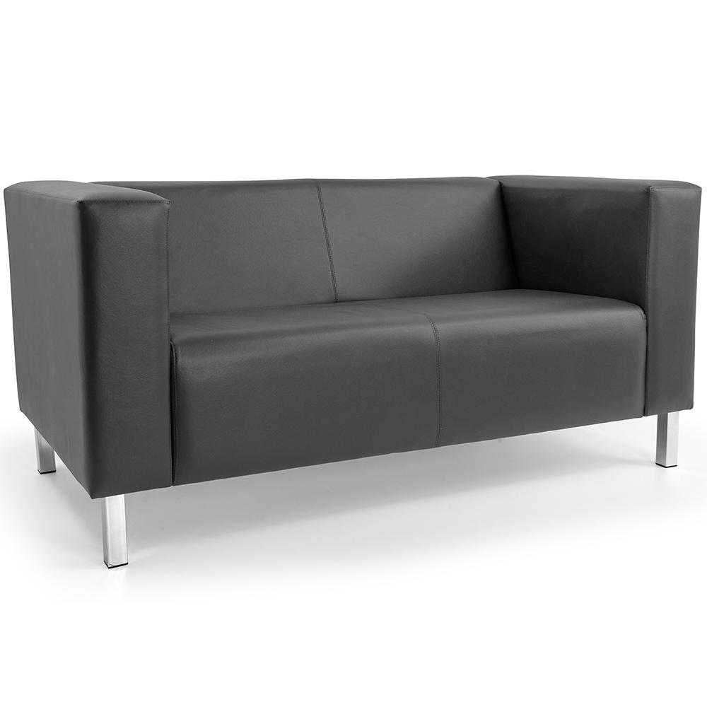 Sofá de Sala Decorativa Kubo 02 Lugares 153 cm Corano Cinza - casaepoltrona