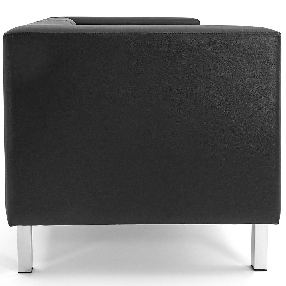 Sofá de Sala Decorativa Kubo 02 Lugares 153 cm Corano Preto - casaepoltrona