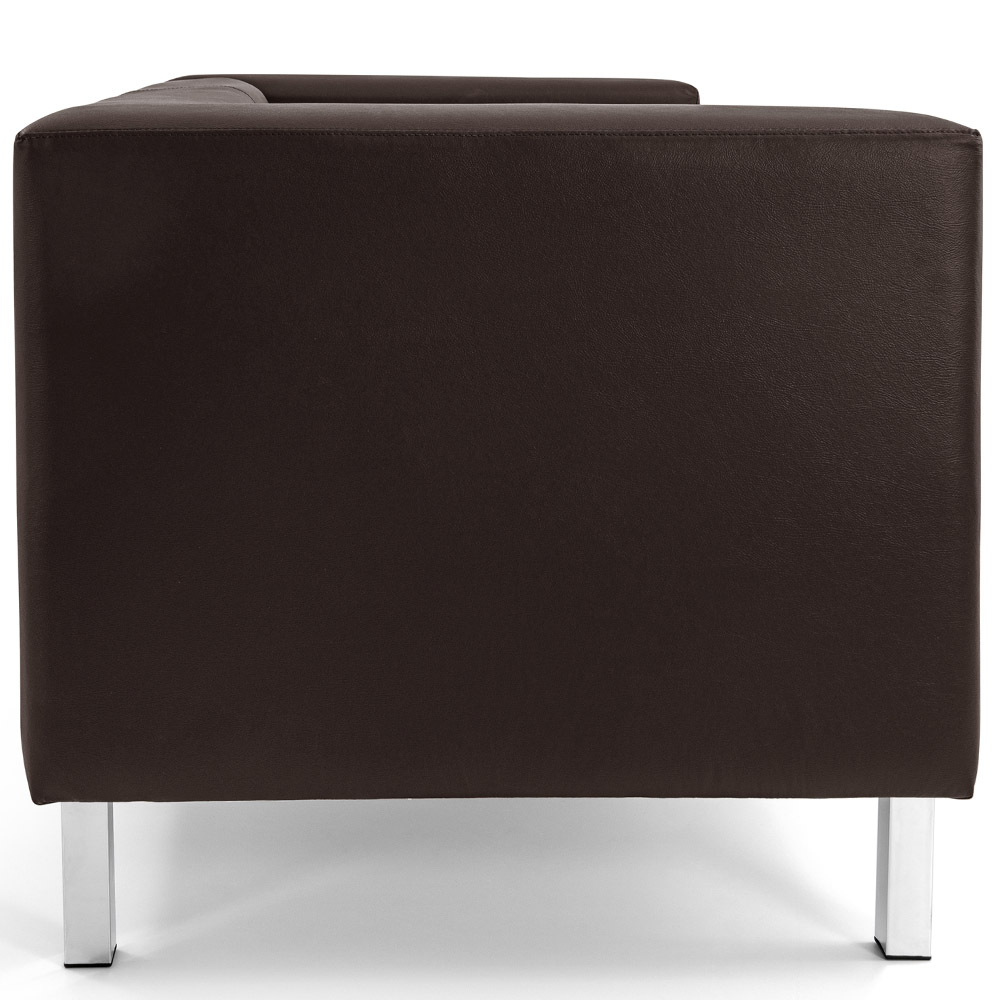 Sofá de Sala Decorativa Kubo 03 Lugares 210 cm Corano Café - casaepoltrona