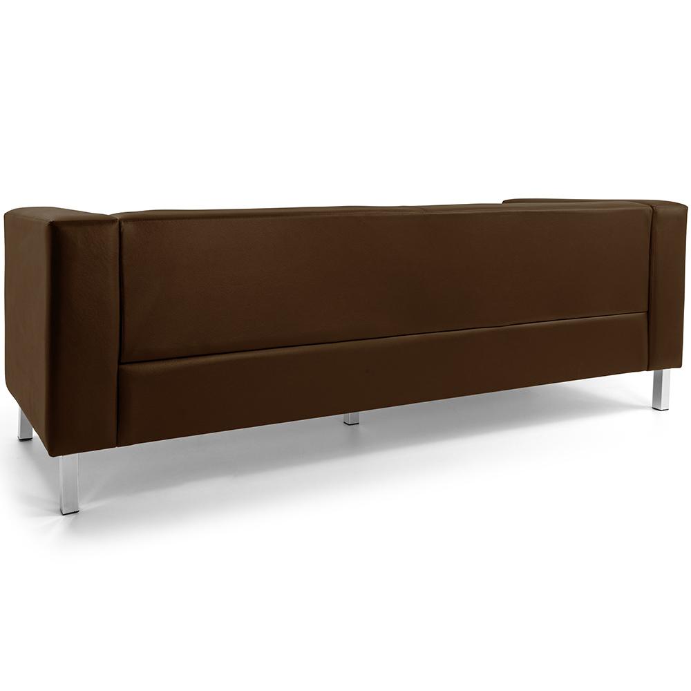 Sofá de Sala Decorativa Kubo 03 Lugares 210 cm Corano Chocolate - casaepoltrona