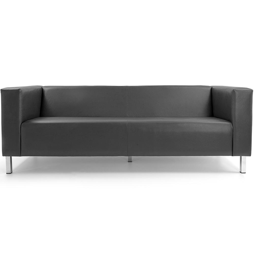 Sofá de Sala Decorativa Kubo 03 Lugares 210 cm Corano Cinza - casaepoltrona