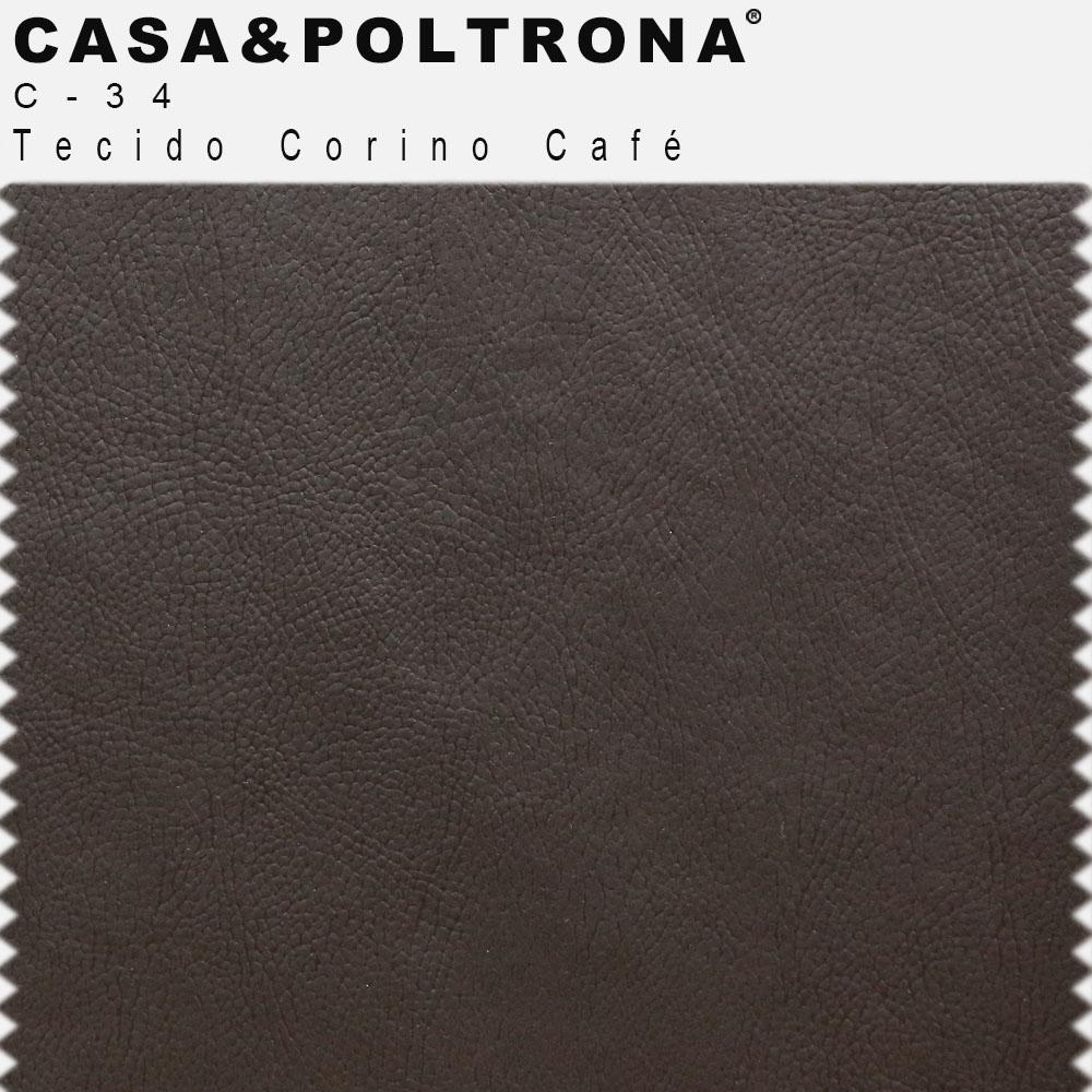 Sofá Império com Capitone 03 Lugares 180 cm Corano Café - casaepoltrona