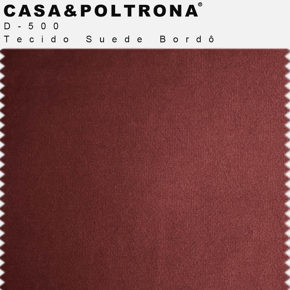 Sofá Império com Capitone 03 Lugares 180 cm Suede Bordô - casaepoltrona