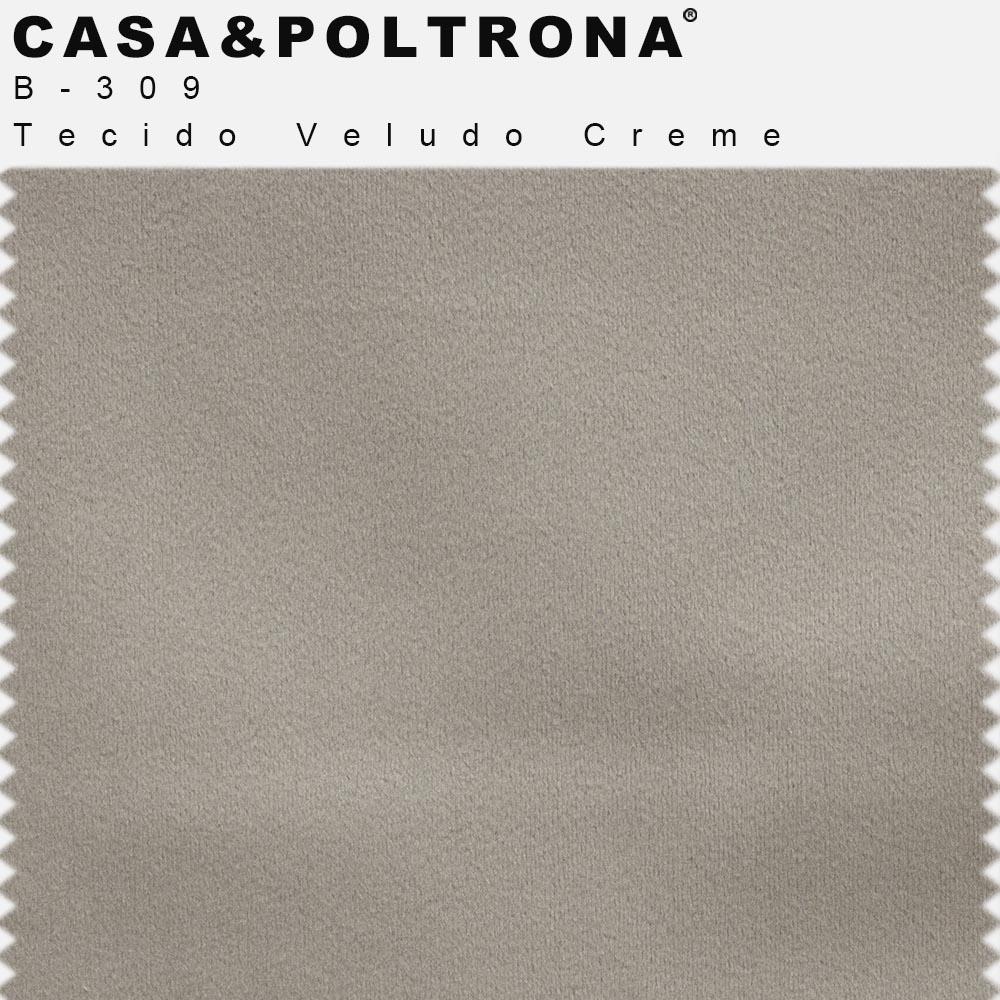 Sofá Império com Capitone 03 Lugares 210 cm Veludo Creme - casaepoltrona