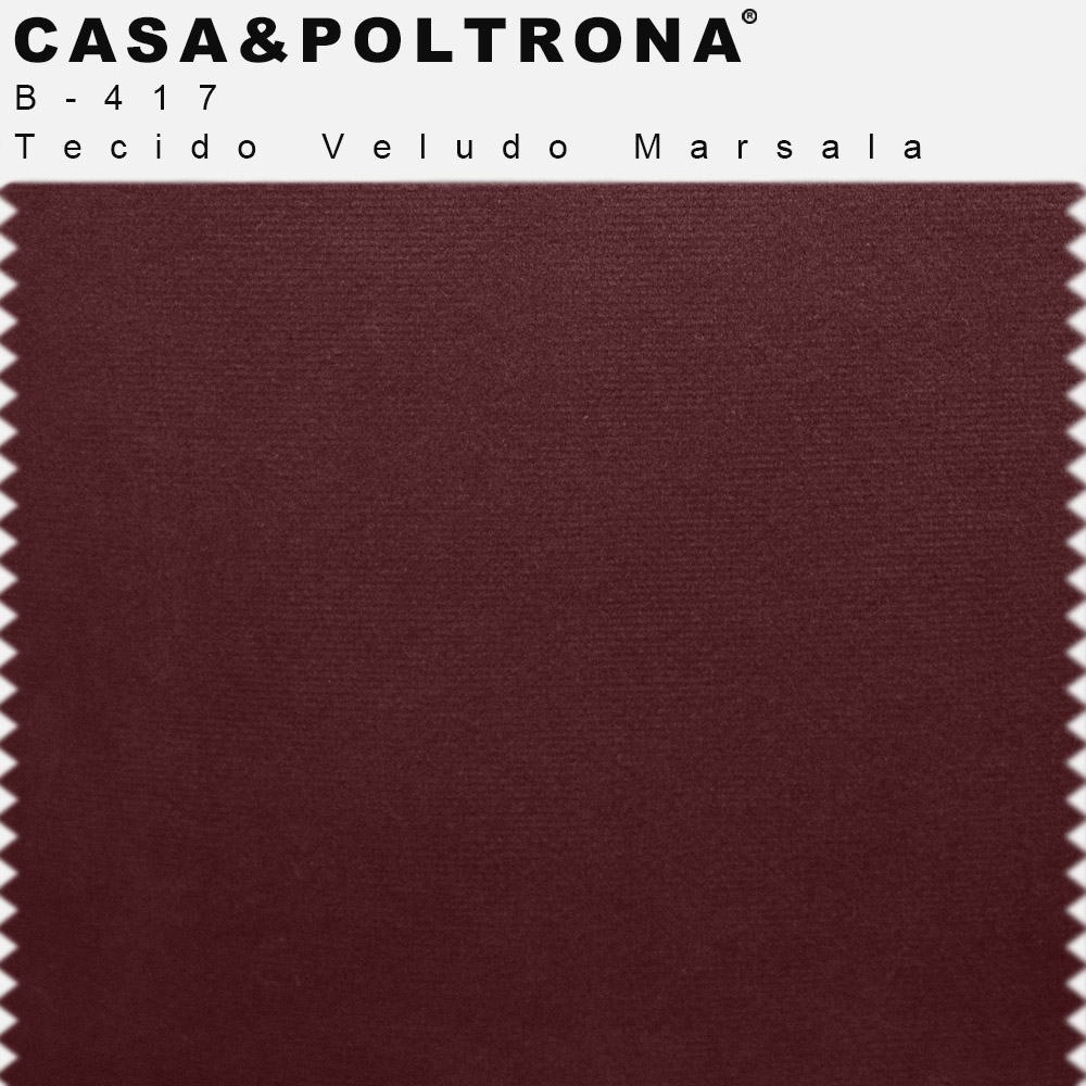 Sofá Império com Capitone 03 Lugares 210 cm Veludo Marsala - casaepoltrona
