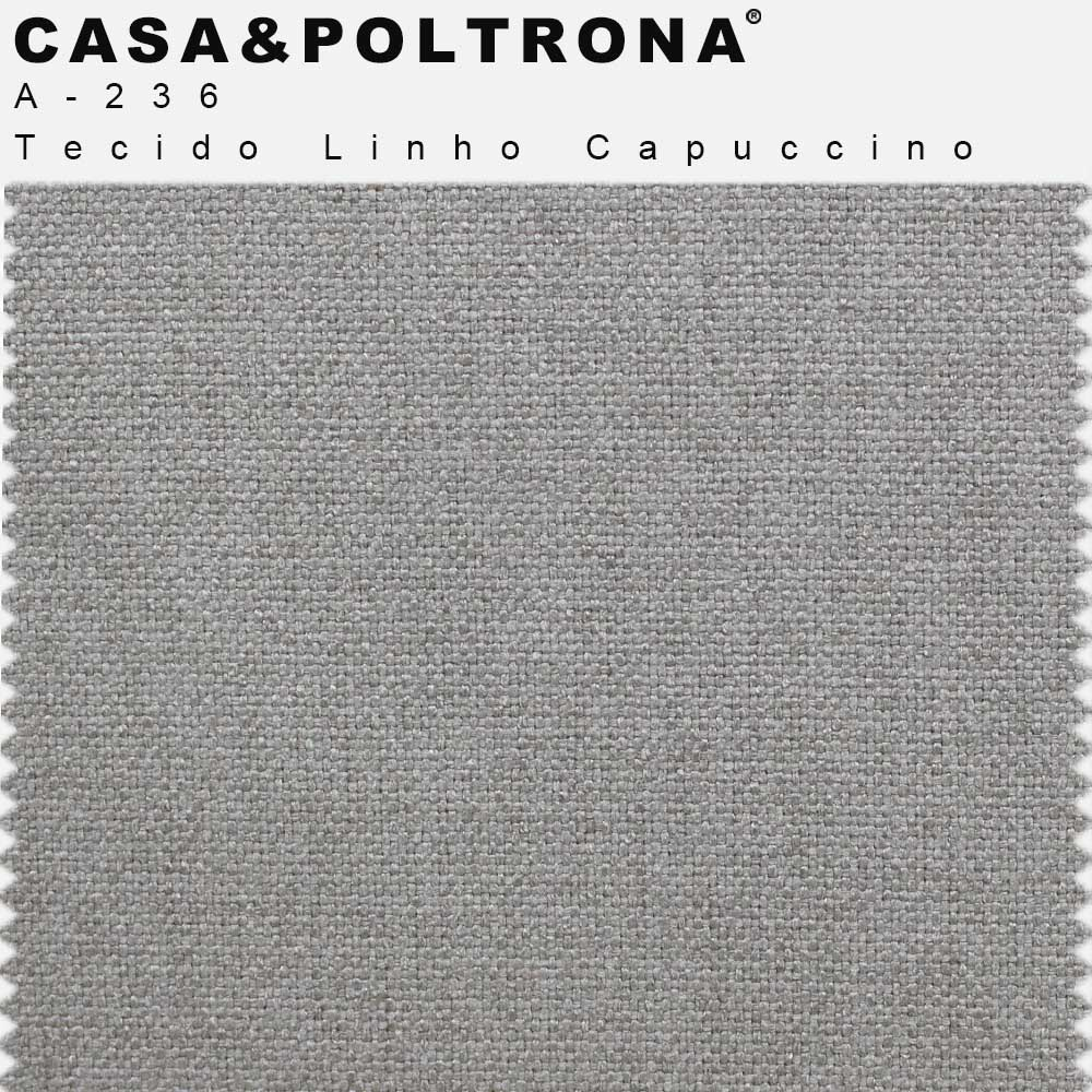 Sofá Luminne Base Madeira 04 Lugares 260 cm Linho Capuccino - casaepoltrona