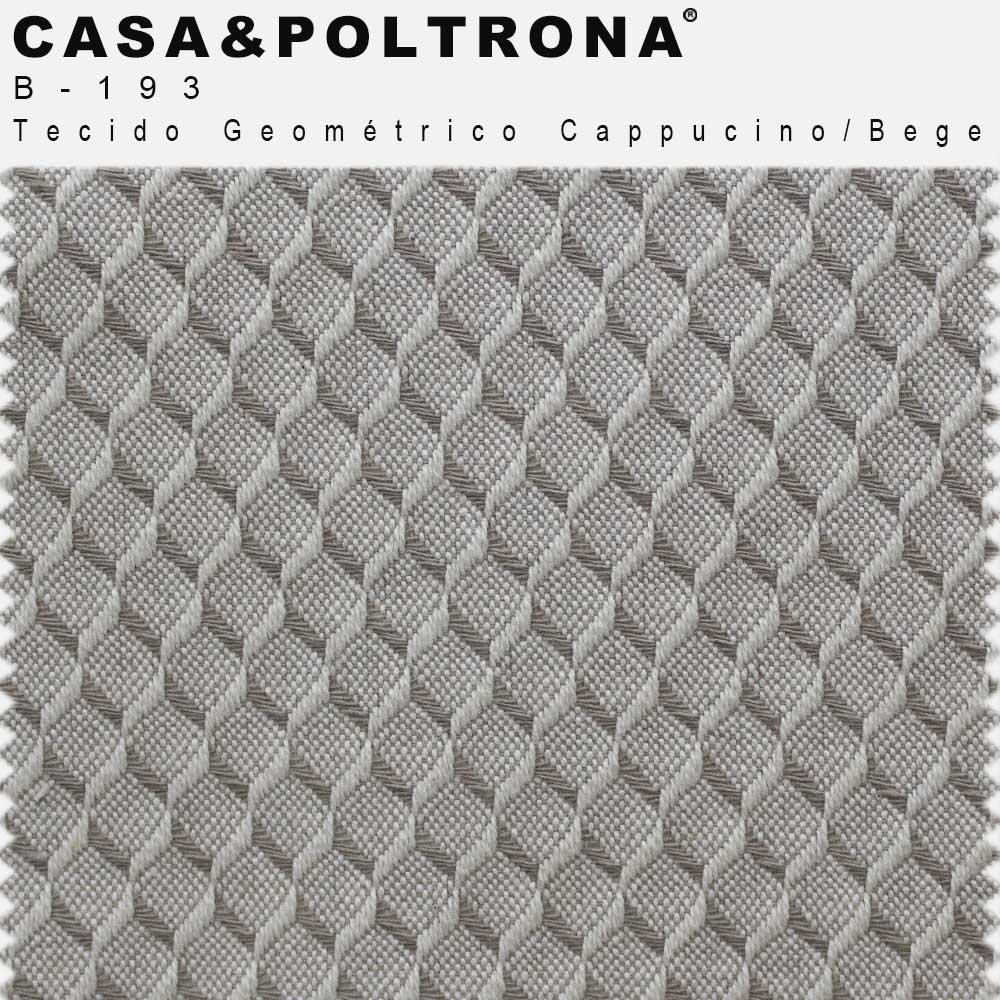 Sofá Luminne Base Madeira 04 Lugares 260 cm Linho Geométrico Capuccino/Bege - casaepoltrona
