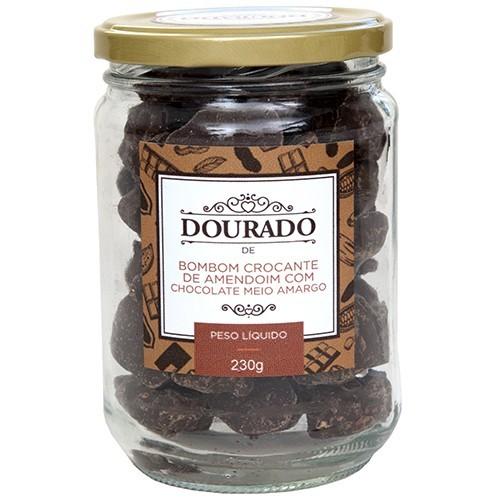 Bombom crocante de amendoim com chocolate meio-amargo 230g