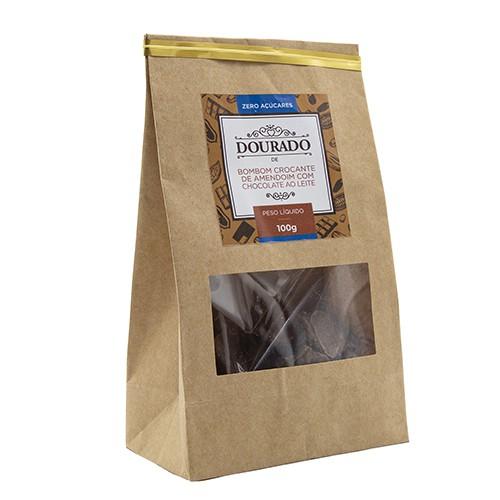 Bombom crocante de amendoim zero açúcares 100g