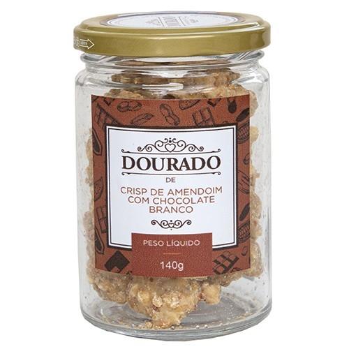 Crisp de amendoim com chocolate branco 140g