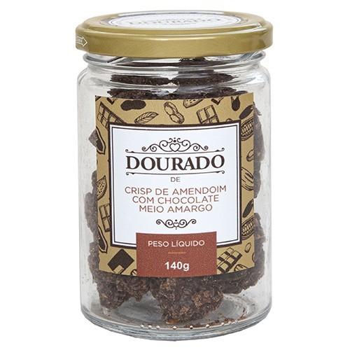 Crisp de amendoim com chocolate meio-amargo 140g