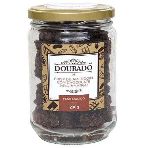 Crisp de amendoim com chocolate meio-amargo 230g