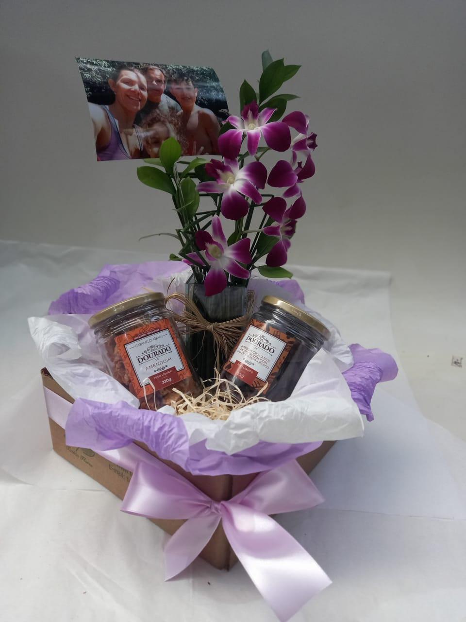 Kit Orquídea + Foto - Especial Dia das Mães