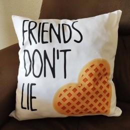 Almofada friends don't lie
