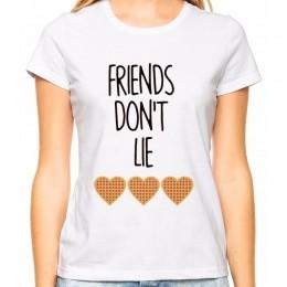 Camiseta Feminina Geek Friends Don't Lie