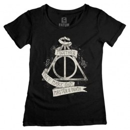 Camiseta Feminina HP Relíquias da Morte