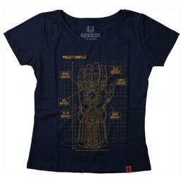 Camiseta Feminina Projeto Manopla do Infinito