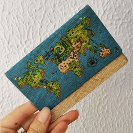 Carteira Fininha RG Pixel World Play - Ecológica