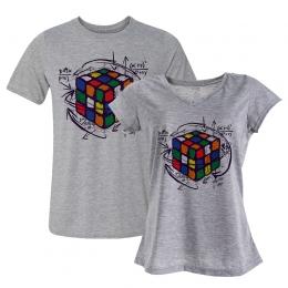 Dia dos Namorados: Camiseta + Baby Look Rubik's Cube