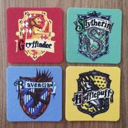 Jogo de Porta Copos Casas de Hogwarts
