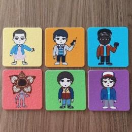 Jogo de Porta Copos Stranger Personagens