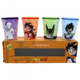 Kit de Shot Dragon Ball Z 4 Peças