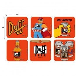 Kit Porta Copos Duff Beer - Os Simpsons